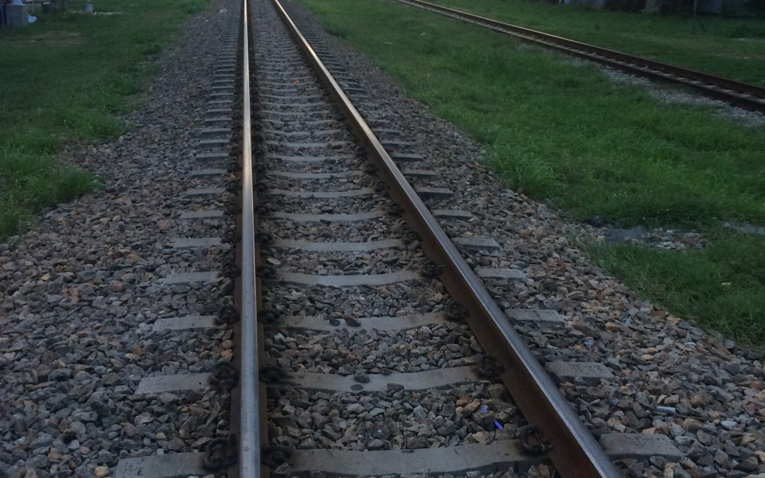 Walking along the train tracks, Vlog…..